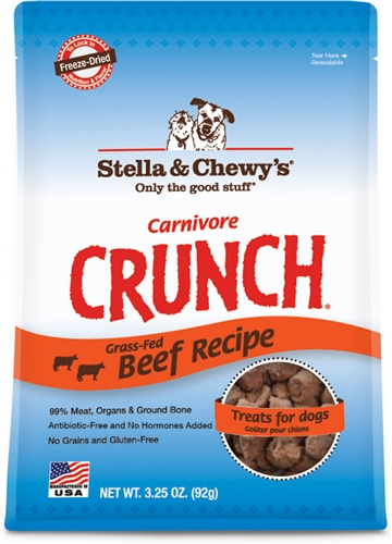 Stella & Chewy's Carnivore Crunch Grass-Fed Beef Dog Treats 3.25z