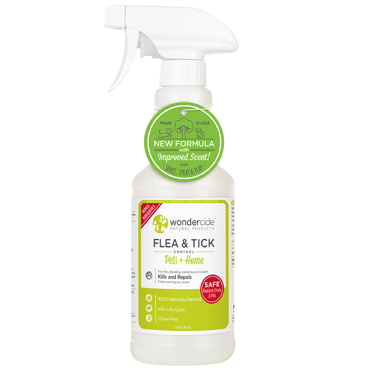 Wondercide 'FLEA & TICK' Natural Flea, Tick & Mosquito Control for Dogs, Cats & Home - Lemongrass Scent 16z