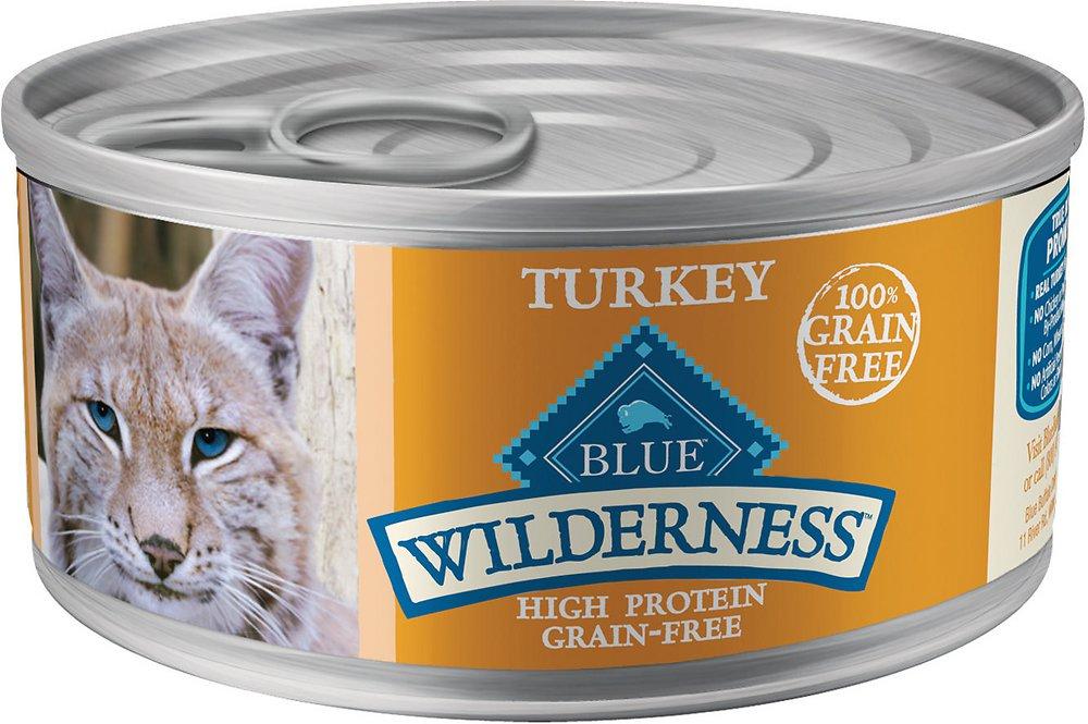 Blue Buffalo Wilderness Turkey Grain-Free Canned Cat Food 5.5z, 24
