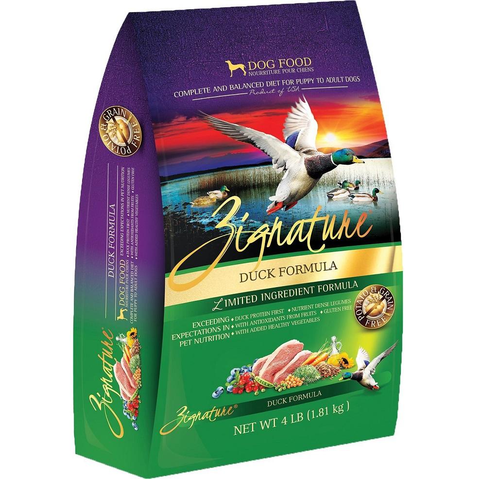 Zignature Grain-Free Duck Limited Ingredient Formula Dry Dog Food 4lbs