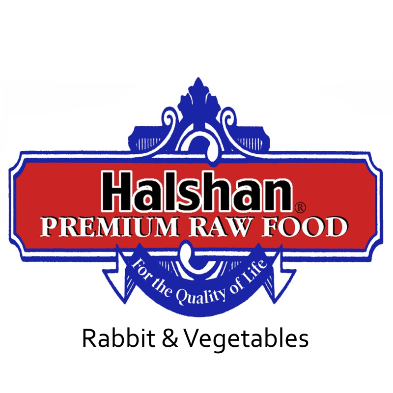 Halshan Rabbit & Vegetables Raw Frozen Dog Food 1lbs