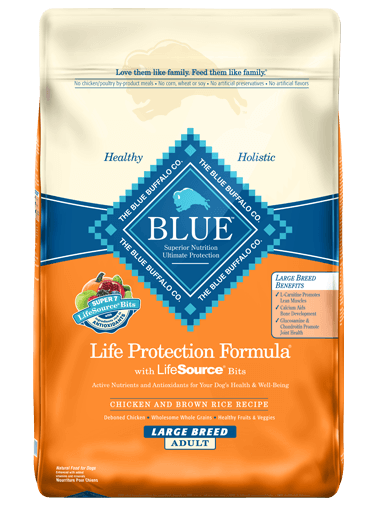 Blue Buffalo Life Protection Formula Large Breed Adult Chicken & Brown Rice Recipe Dry Dog Food 30lbs