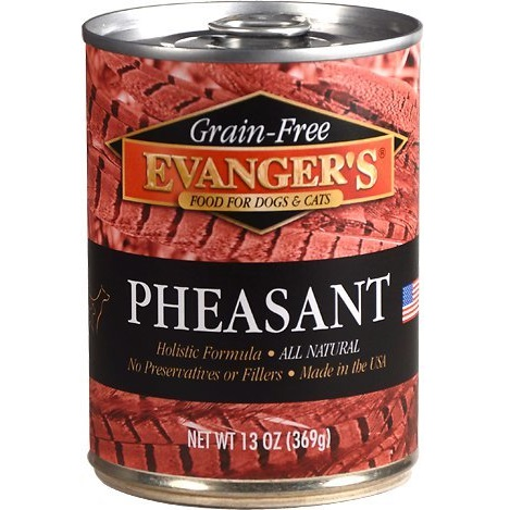 Evanger's Grain-Free Pheasant Canned Dog & Cat Food 13z, 12