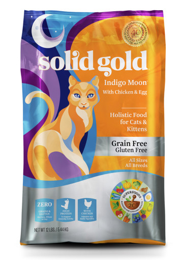 Solid Gold Indigo Moon with Peas, Chicken & Eggs Grain-Free Dry Cat Food 4lbs