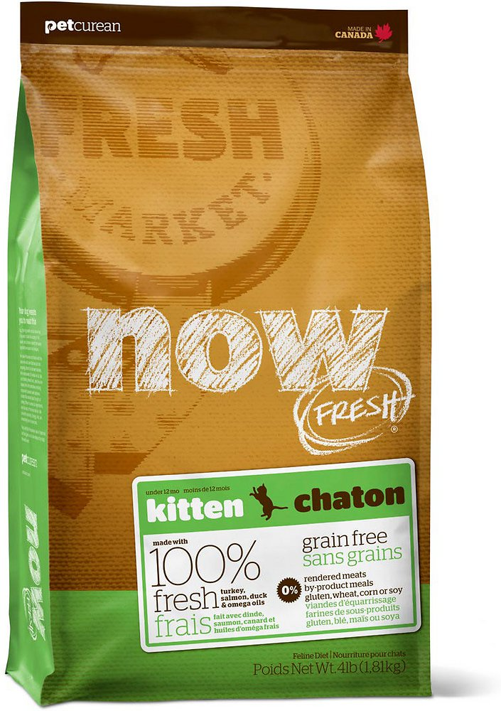 Petcurean Now Fresh Grain-Free Kitten Recipe Dry Cat Food 8lbs