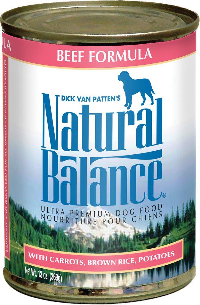Natural Balance Ultra Premium Beef Formula Canned Dog Food 13.2z, 12