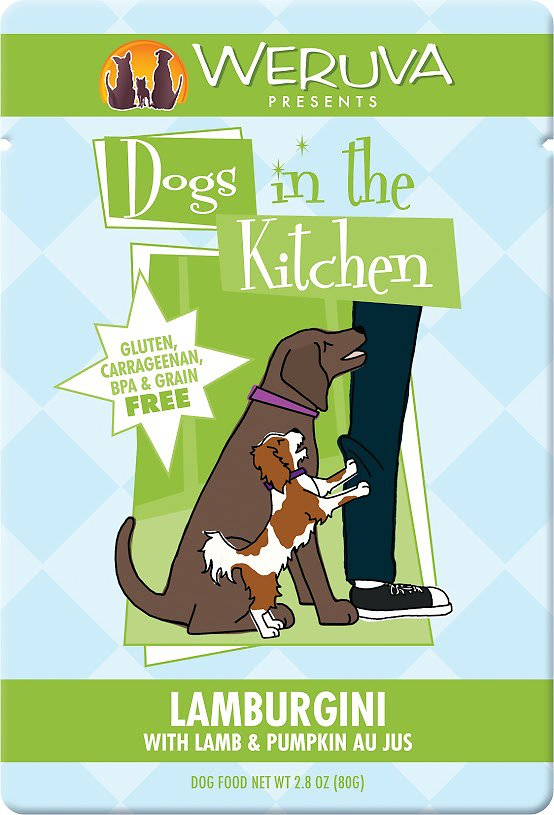 Weruva Dogs in the Kitchen Lamburgini with Lamb & Pumpkin Au Jus Grain-Free Dog Food Pouches 2.8z, 12