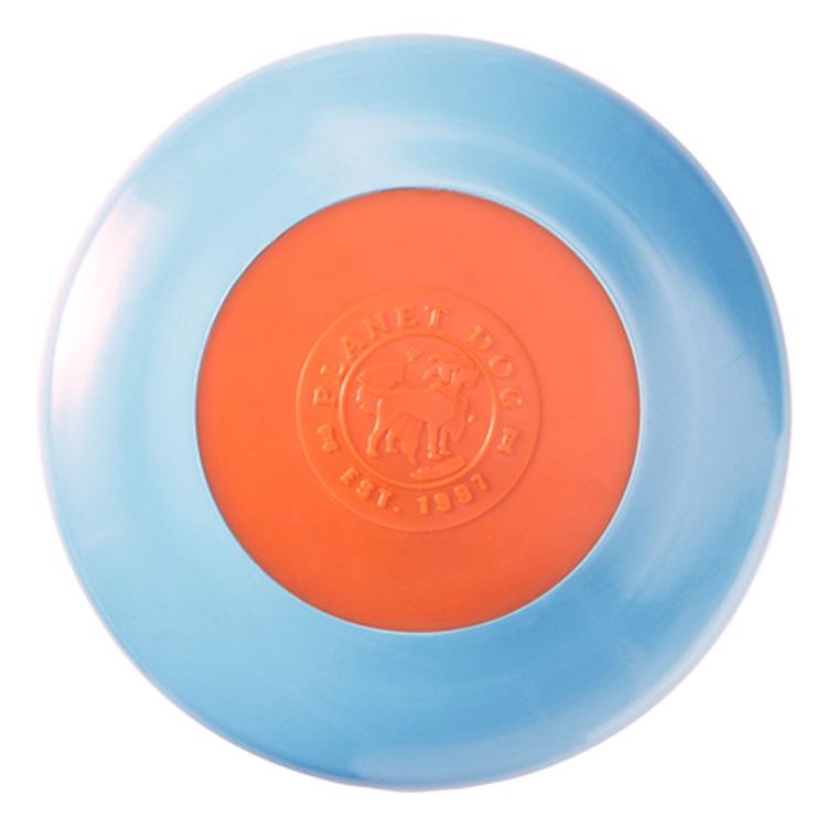 Planet Dog Orbee-Tuff Zoom Flyer Disc Dog Toy - Blue/Orange, 3