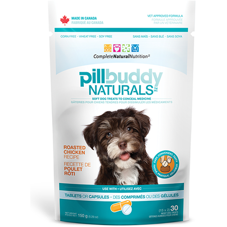 Pill Buddy Naturals - Roasted Chicken Recipe Pill / Capsule Treats for Dogs 150g