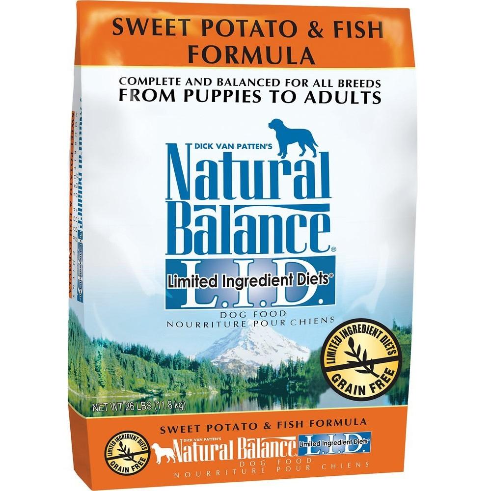 Natural Balance L.I.D. Limited Ingredient Diets Sweet Potato & Fish Formula Dry Dog Food 26lbs