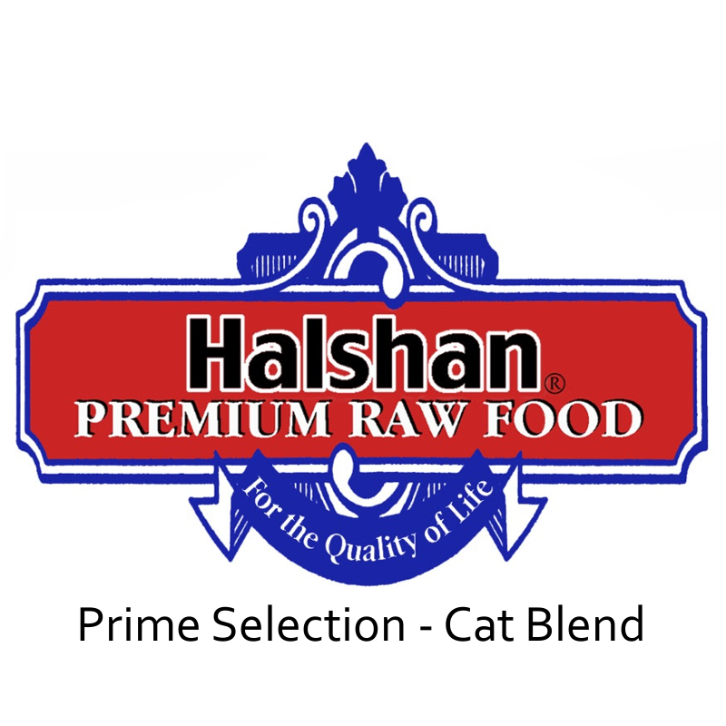 Halshan Prime Selection Cat Blend Raw Frozen Cat Food 1lbs