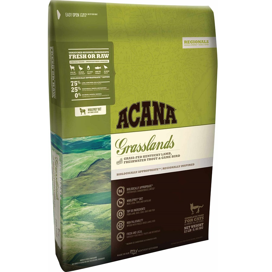 ACANA Grasslands Regional Grain-Free Dry Cat & Kitten Food 12lbs