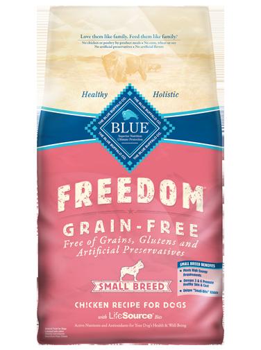 Blue Buffalo Freedom Small Breed Adult Chicken Recipe Grain-Free Dry Dog Food 4lbs