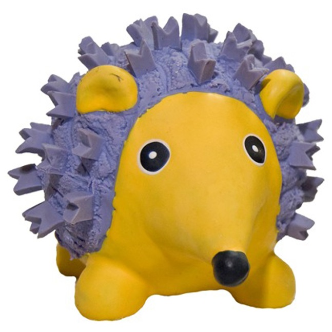 HuggleHounds Ruff-Tex Violet the Hedgehog Small Dog Toy