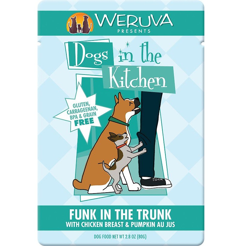 Weruva Dogs in the Kitchen 'Funk in the Trunk' Chicken Breast & Pumpkin Au Jus Dog Food Pouches 2.8z, 12