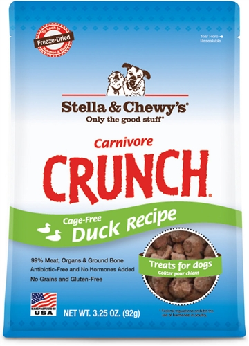 Stella & Chewy's Carnivore Crunch Cage-Free Duck Dog Treats 3.25z