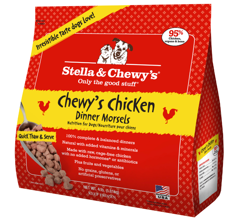 Stella & Chewy's Chewy's Chicken Dinner Morsels Grain-Free Raw Frozen Dog Food 4lbs