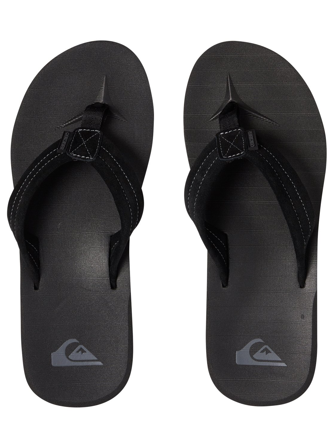 fcfcedd10db7 Quiksilver Carver Suede Sandals AQYL100030 10 Solid Black. About this  product. Picture 1 of 4  Picture 2 of 4  Picture 3 of 4 ...