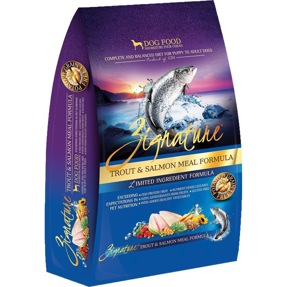 Zignature Grain-Free Trout & Salmon Meal Limited Ingredient Formula Dry Dog Food 13.5lbs