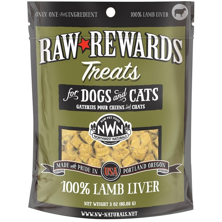 Northwest Naturals Raw Rewards Lamb Liver Freeze Dried Dog & Cats Treats 3z