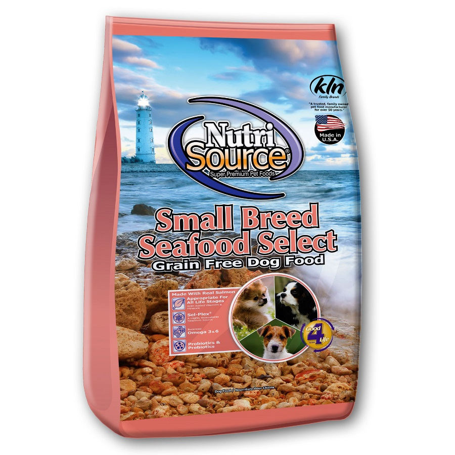 NutriSource Small Breed Grain-Free Seafood Select Formula Dry Dog Food 15lbs