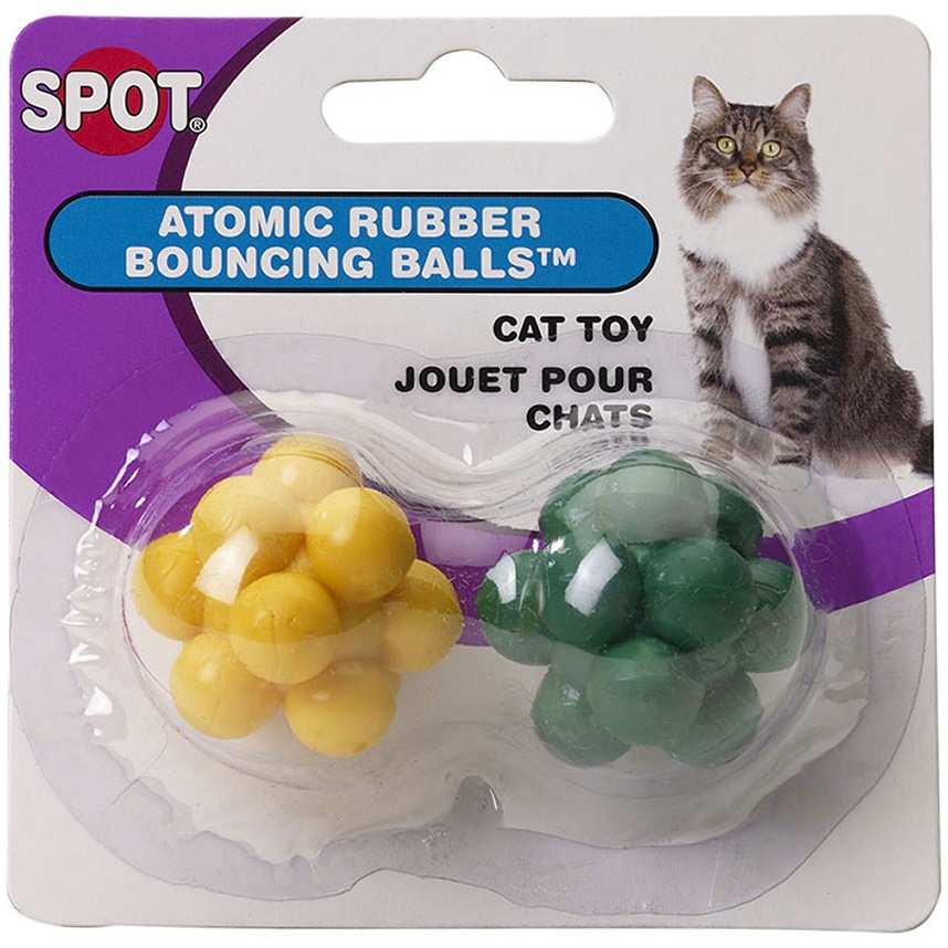 Ethical Products Spot Atomic Rubber Bouncing Balls Cat Toy 2pk