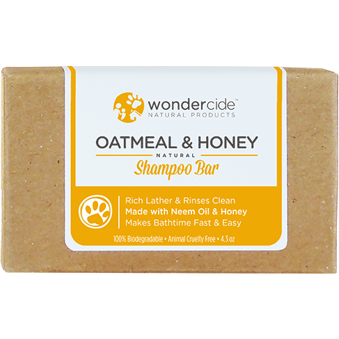 Wondercide 'OATMEAL & HONEY' Natural Shampoo Bar with Neem Oil & Honey for Dogs & Cats 4.3z