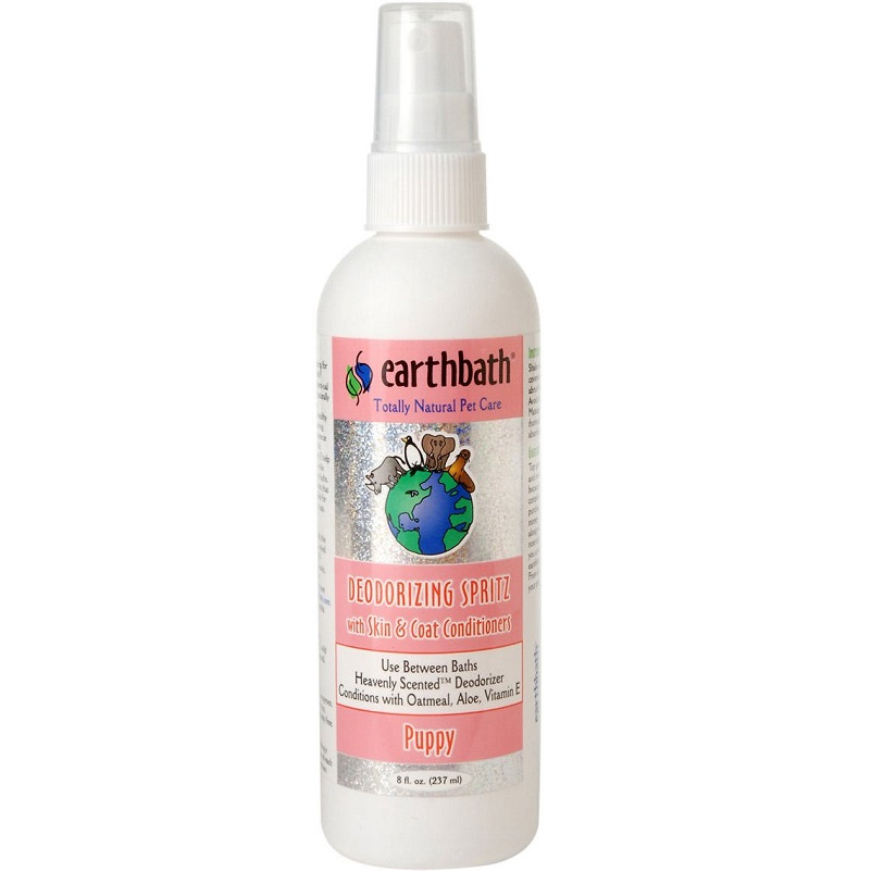Earthbath Puppy Deodorizing Spritz with Skin & Coat Conditioner For Dogs 8z