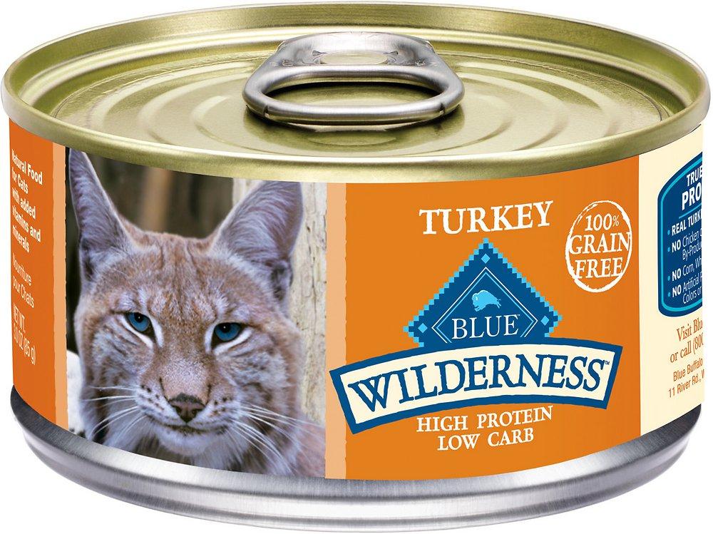 Blue Buffalo Wilderness Turkey Grain-Free Canned Cat Food 3z, 24