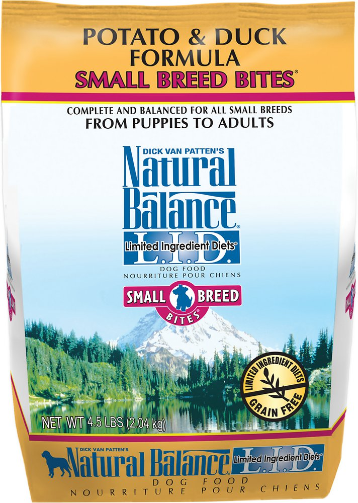 Natural Balance L.I.D. Limited Ingredient Diets Potato & Duck Formula Small Breed Bites Dry Dog Food 4.5lbs