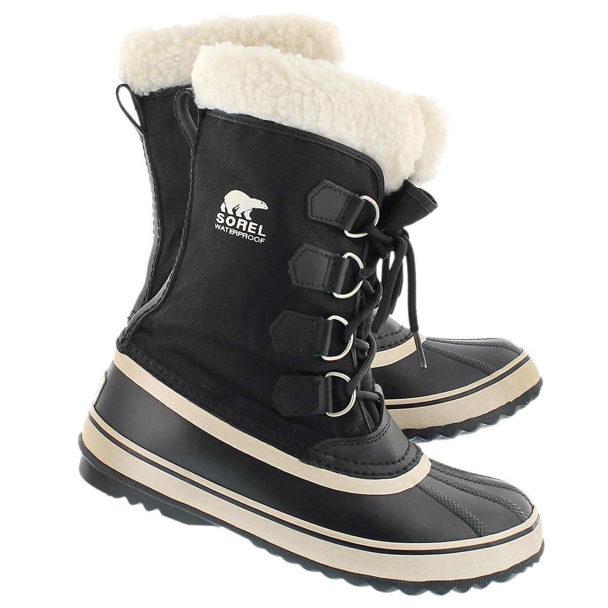 Sorel Women's Winter Carnival Boot Black Stone Waterproof ...