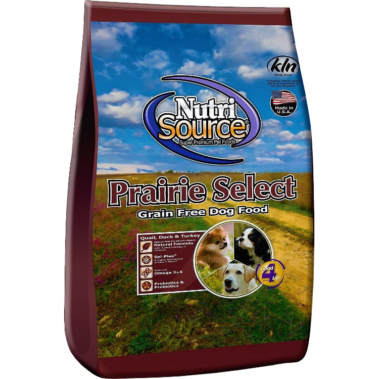 NutriSource Grain Free Prairie Select with Quail Dog Food 5lbs
