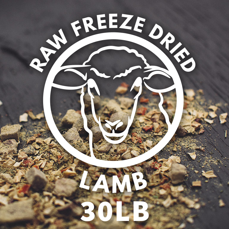 Naked Grain-Free Raw Lamb Dinner Freeze Dried Dog Food 30lbs