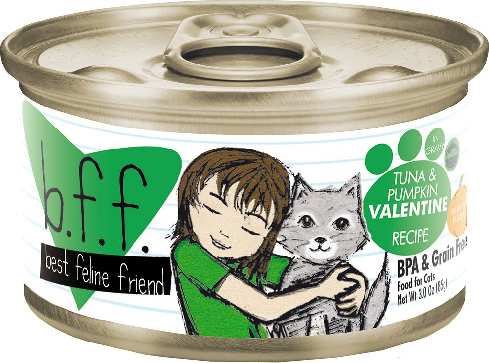 Weruva BFF Grain-Free Tuna & Pumpkin Valentine Recipe in Gravy Canned Cat Food 3z, 24