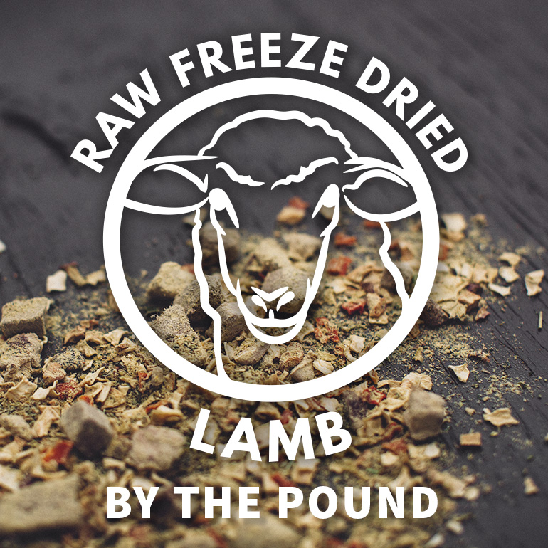 DOG Naked Raw Lamb Freeze Dried Food By the Pound Grain-Free