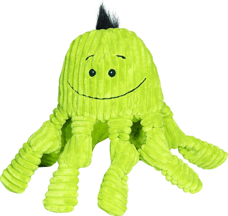 HuggleHounds Knottie Green Octopus Dog Toy