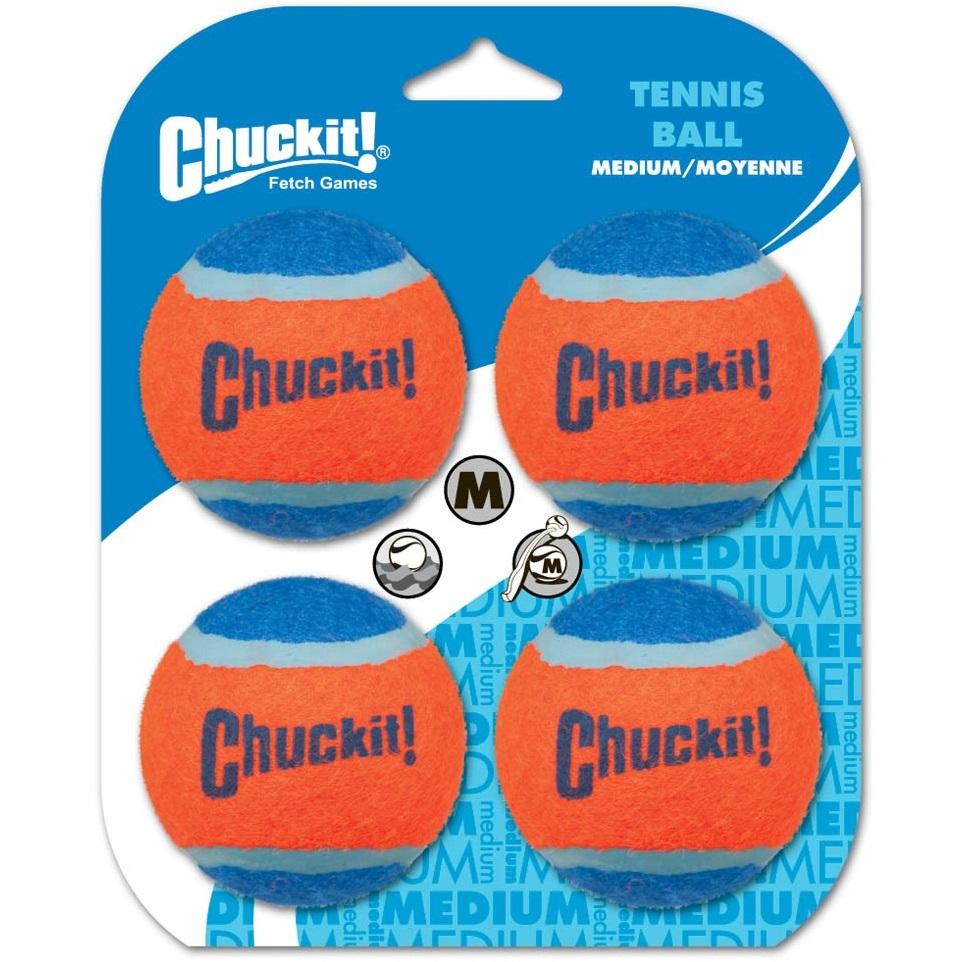 Chuckit! Tennis Ball Dog Toy - 4PK, Medium