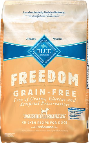 Blue Buffalo Freedom Large Breed Puppy Chicken Recipe Grain-Free Dry Dog Food 24lbs