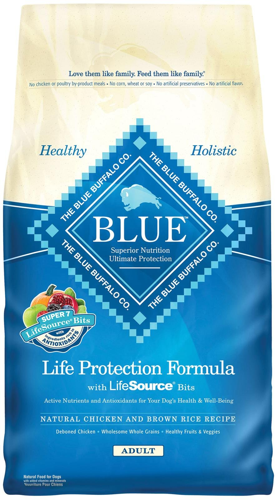 Blue Buffalo Life Protection Formula Adult Chicken & Brown Rice Recipe Dry Dog Food 15lbs