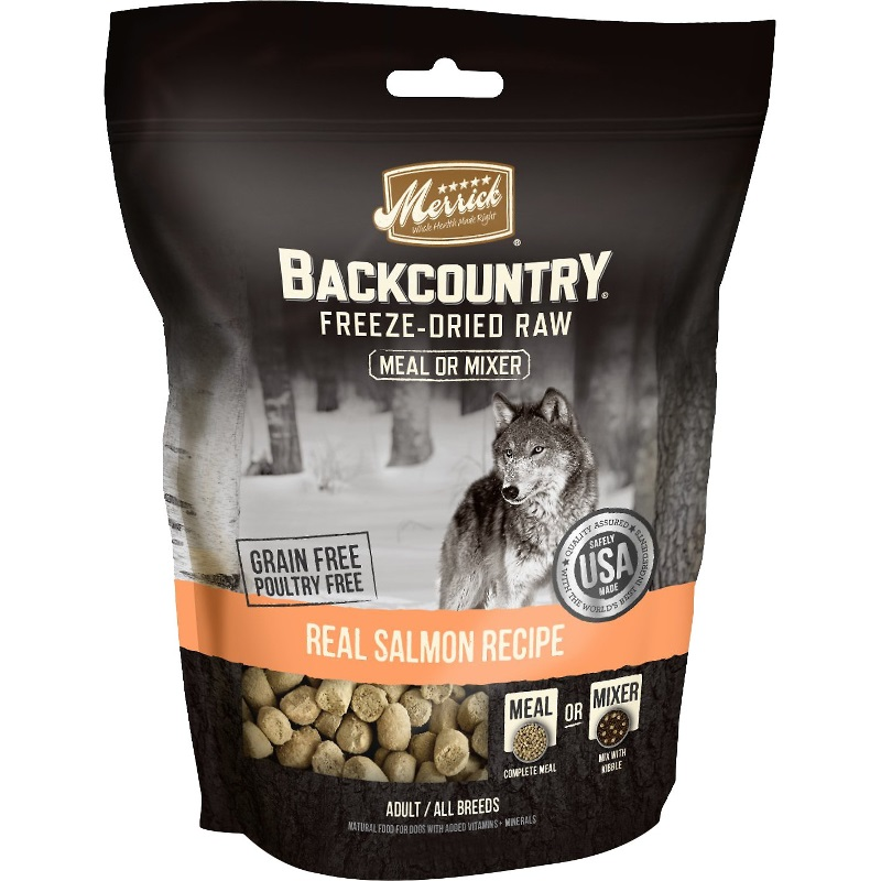 Merrick Backcountry Real Salmon Recipe Grain-Free Freeze-Dried Dog Food 12.5z
