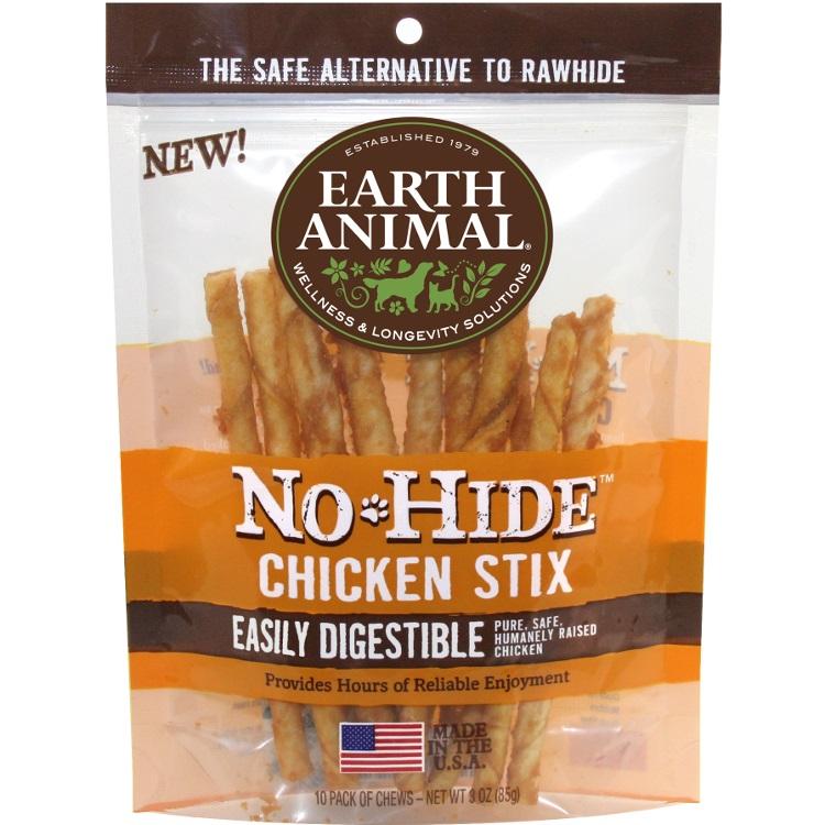 Earth Animal No Hide Chicken Stix Chews Dog Treat 3z
