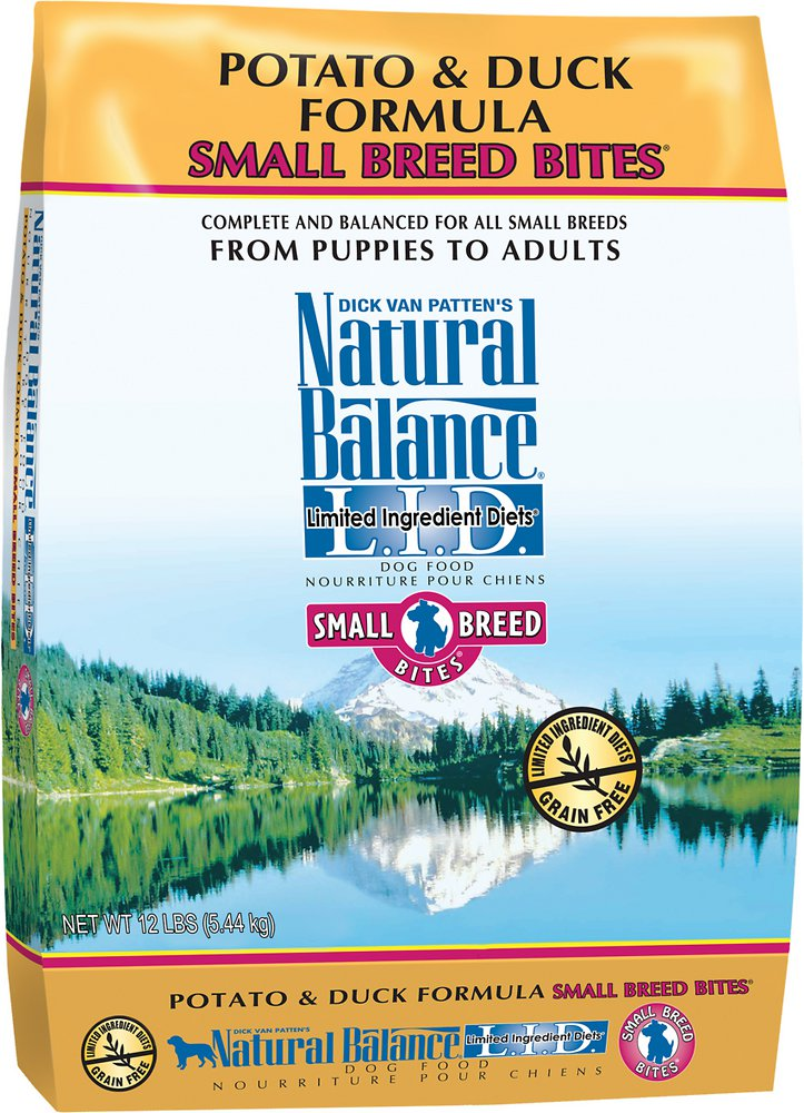 Natural Balance L.I.D. Limited Ingredient Diets Potato & Duck Formula Small Breed Bites Dry Dog Food 12.5lbs
