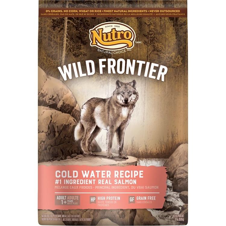 Nutro Wild Frontier Cold Water Recipe Grain-Free Dry Dog Food 24lbs