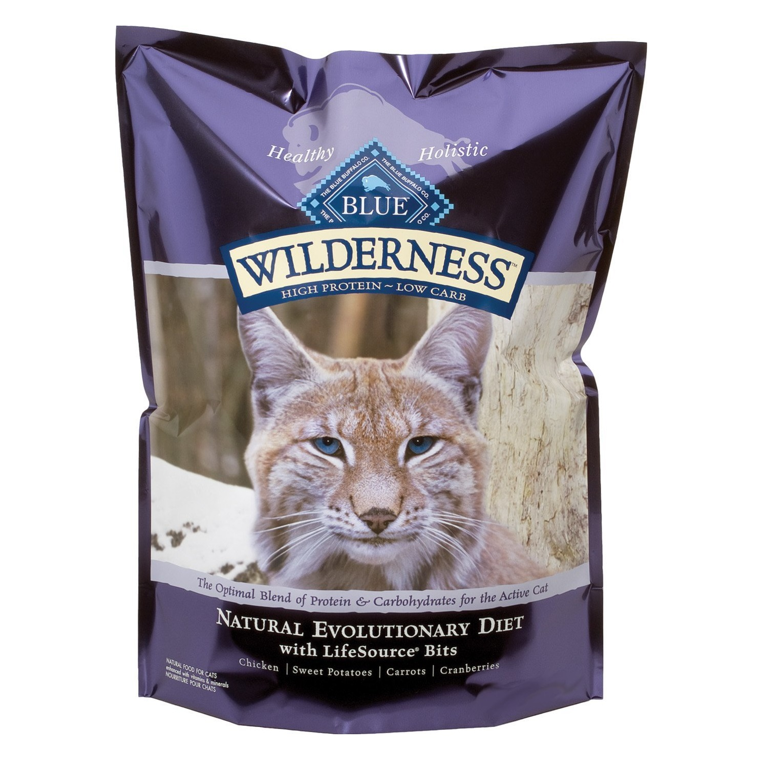 Blue Buffalo Wilderness Chicken Recipe Grain-Free Dry Cat Food 12lbs