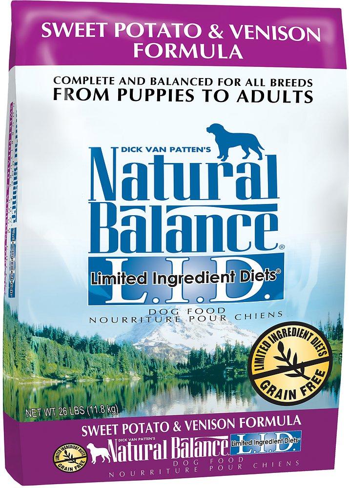 Natural Balance L.I.D. Limited Ingredient Diets Sweet Potato & Venison Formula Dry Dog Food 26lbs