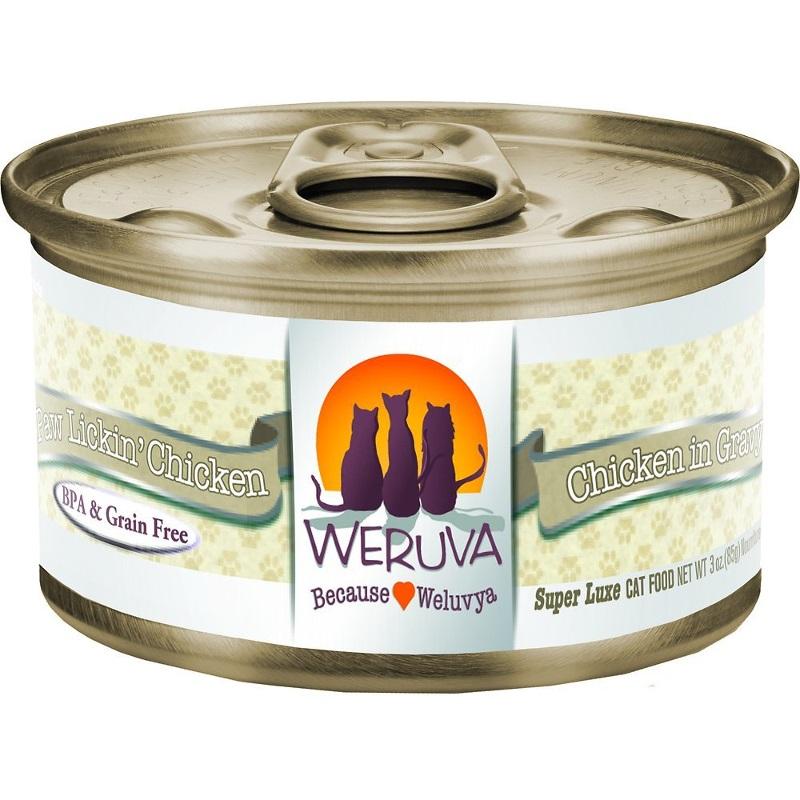 Weruva Grain-Free Paw Lickin' Chicken in Gravy Canned Cat Food 3z, 24