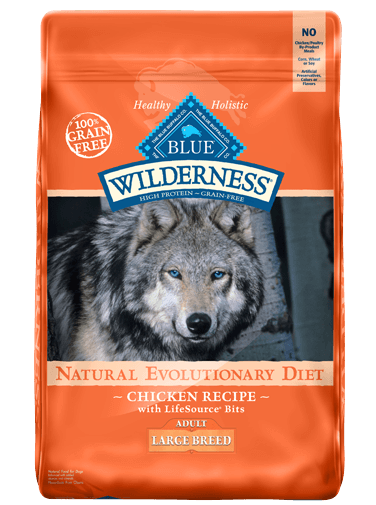Blue Buffalo Wilderness Large Breed Chicken Recipe Grain-Free Dry Dog Food 24lbs