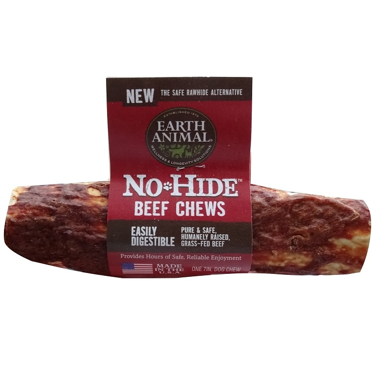Earth Animal No Hide Beef Chews Dog Treat 7'', 24