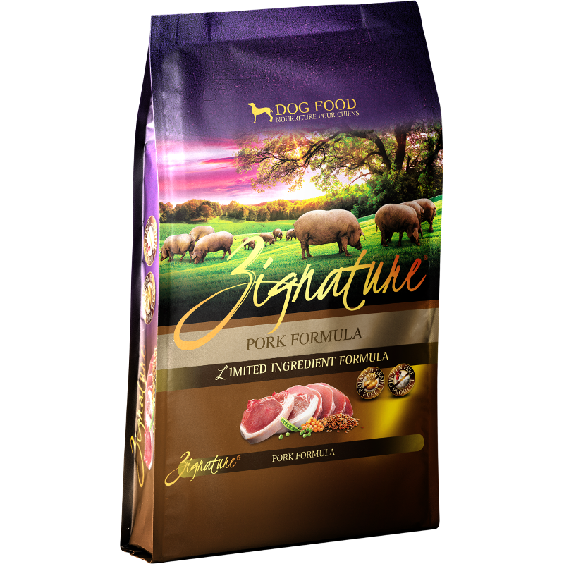 Zignature Grain-Free Pork Limited Ingredient Formula Dry Dog Food 4lbs