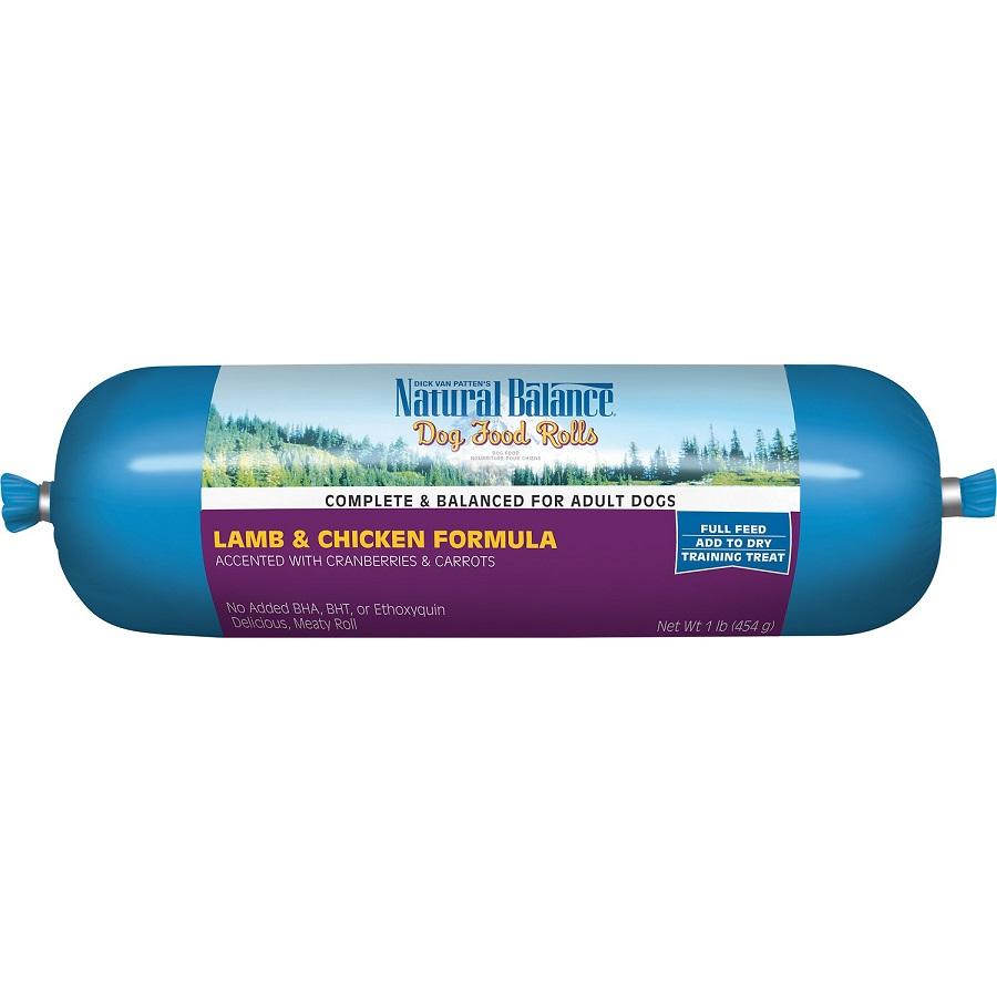 Natural Balance Lamb & Chicken Formula Dog Food Roll 1lbs